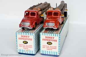 Dinky Toys 36A et 896 - Willeme semi-remorque fardier - les 2 versions