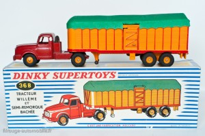 Dinky Toys 36B - Willeme semi-remorque savoyarde - 1ère version