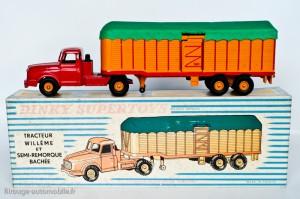 Dinky Toys 896 - Willeme semi-remorque savoyarde - 2ème version