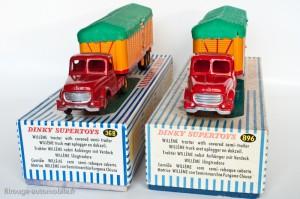 Dinky Toys 36B et 896 - Willeme semi-remorque savoyarde - 1ère et 2ème versions