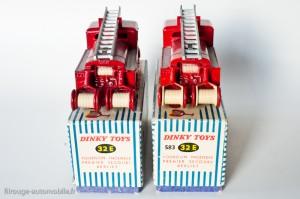 Dinky Toys 32 E et 583 - Berliet pompier premier secours - détails tuyaux et bobineaux