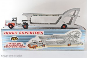 Dinky Toys 39A - Unic Izoard porte voitures Boilot