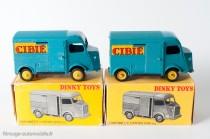 """Dinky Toys 561 - Citroën H 1200kg """"Cibié"""" - jantes convexes puis jantes concaves"""