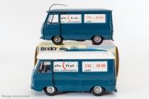 "Dinky Toys 570 - Peugeot J7 ""Allo fret"" - toit bleu et toit blanc"