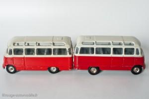"""Dinky Toys 541 - Mercedes Benz """"petit car"""" - les deux nuances de rouge"""