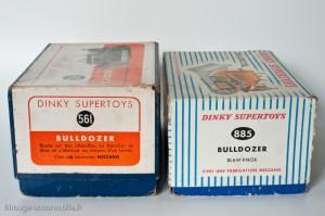 Dinky Toys 561 et 885 - Blaw-Knox bulldozer - les 2 boites françaises