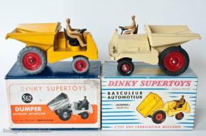 Dinky Toys 562 et 887 - Muir Hill basculeur automoteur - les 2 versions françaises