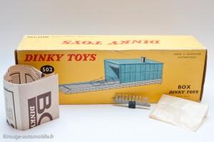 Dinky Toys 502 - box garage - boite, notice et numéros