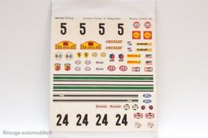 Dinky Toys 839 - planches de décalcomanie rallye