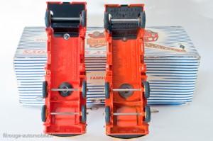 """Dinky Toys 972 - Coles camion grue - modéle français et anglais - plancher """"assemblé en France"""""""
