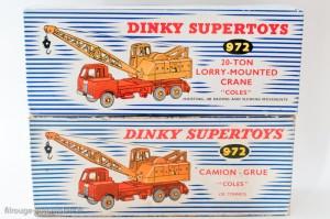Dinky Toys 972 - Coles camion grue - boites modèle français et anglais
