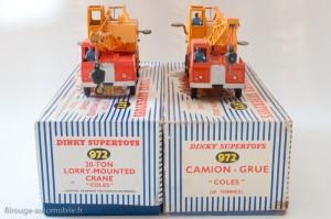 Dinky Toys 972 - Coles camion grue - modèles français et anglais