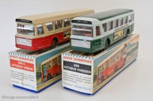 Dinky Toys 889 et 889U - Berliet autobus parisien et lyonnais