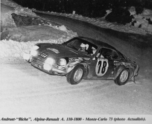 Alpine Renault A110 - 1800 - Vainqueur du Rallye de Monte Carlo 1973