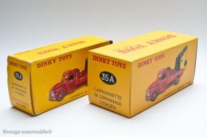 Camionnette de dépannage Citroën - Boite Dinky Toys à gauche et Dinky Atlas à droite