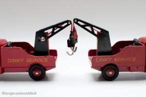 Camionnette de dépannage Citroën - Dinky Toys 35 A, copie Atlas à gauche, original à droite - grues plus basse sur l'Atlas