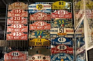 Automobilia: plaques de rallye - Rétromobile 2013