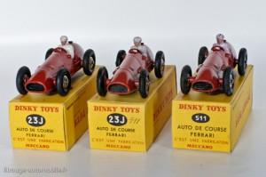 Dinky Toys 23 J & 511 - Ferrari Auto de course