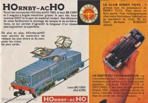 Le catalogue 1963 et la dernière promotion pour le Club Dinky Toys
