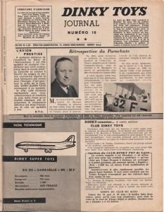 La page du Club Dinky Toys dans le Meccano Magazine