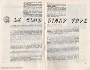Le Meccano Magazine de juin 1957 annonce la création du club Dinky Toys