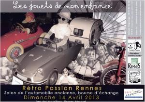 Affiche Rétro Passion Rennes 2013