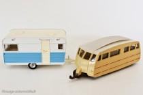 Dinky Toys ref. 564 et 811 - Caravane Caravelair Armagnac 420 et Henon