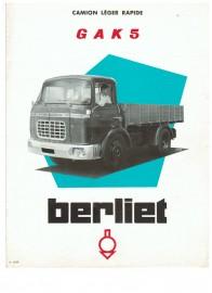 Berliet GAK 5 - publicité d'époque