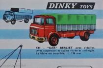 Catalogue Dinky Toys 1964 - Berliet GAK bâché