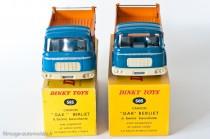Dinky Toys 585 (à gauche) et Dinky Editions Atlas(à droite) - Berliet GAK benne basculante