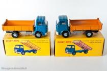 Dinky Toys 585 (à gauche) et Dinky Editions Atlas(à droite) - Berliet GAK benne basculante -