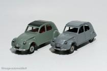 Citroën 2 CV AZAM 1961 - Dinky Toys réf. 558 et 105 série Junior