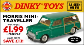 Dinky Atlas anglais - Morris Mini Traveller - photo Ed. Atlas