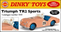 Dinky Atlas anglais - Triumph TR2 Sport - photo Ed. Atlas