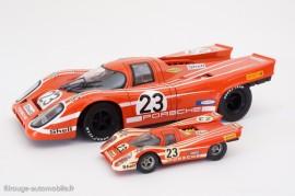 Porsche 917 K - vainqueur 24 Heures du Mans 1970 - Universal Hobbie 1/18ème et Solido 1/43ème
