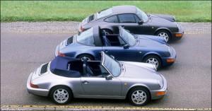 Porsche 911 type 964 Coupé, Targa et Cabriolet