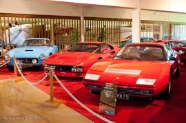Manoir de l'automobile de Lohéac - la salle des Ferrari
