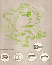 Tour de France Automobile 1973 - Carte du parcours