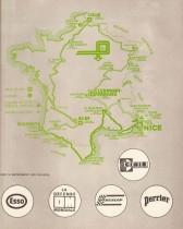 Tour de France Automobile 1973 - Carte du parcours