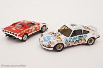 Lancia Stratos, vainqueur Tour Auto 1973, et  Porsche 911 Carrera RSR 2,8l  - Solido et Kit Tron AMR