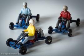 Leskokart Midget - Dinky Toys réf. 512 - les trois couleurs