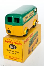 "Dinky Toys 25 B - Peugeot D3A ""Lampe Mazda"""
