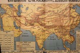 La croisière jaune - carte de l'expédition - Ariane Audouin-Dubreuil - Glénat