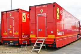 Ferrari 458 Challenge - Logistique