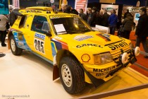 205 turbo 16 Paris-Dakar - Rétromobile 2014