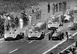 Départ Grand Prix de France 1954 - Photo Mercedes
