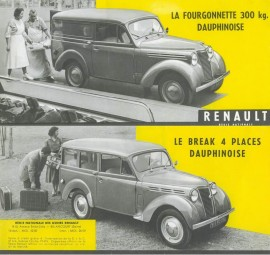 Renault Juvaquatre Dauphinoise - Catalogue 1956