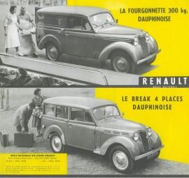 Renault Juvaquatre Dauphinoise - Catalogue 1956