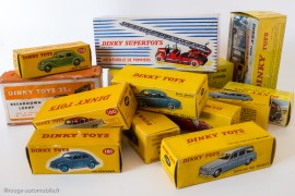 Le charme des boites de Dinky Toys années 1950