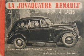 Renault Juvaquatre - Catalogue 1939